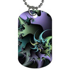 Fractal Image With Sharp Wheels Dog Tag (one Side)