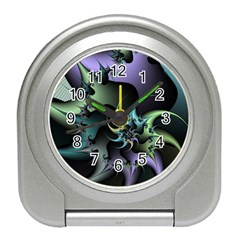 Fractal Image With Sharp Wheels Travel Alarm Clocks