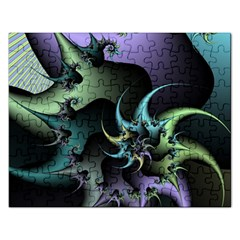 Fractal Image With Sharp Wheels Rectangular Jigsaw Puzzl