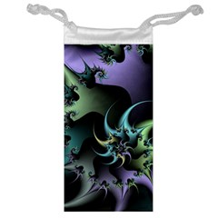 Fractal Image With Sharp Wheels Jewelry Bag