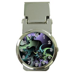 Fractal Image With Sharp Wheels Money Clip Watches