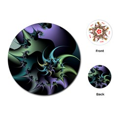 Fractal Image With Sharp Wheels Playing Cards (Round)