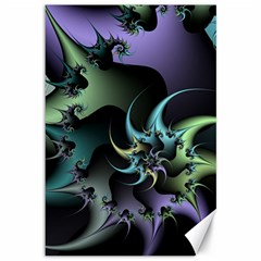 Fractal Image With Sharp Wheels Canvas 12  X 18