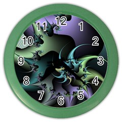 Fractal Image With Sharp Wheels Color Wall Clocks