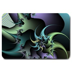 Fractal Image With Sharp Wheels Large Doormat