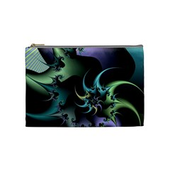 Fractal Image With Sharp Wheels Cosmetic Bag (medium)