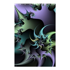 Fractal Image With Sharp Wheels Shower Curtain 48  x 72  (Small)