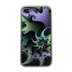 Fractal Image With Sharp Wheels Apple iPhone 4 Case (Clear)