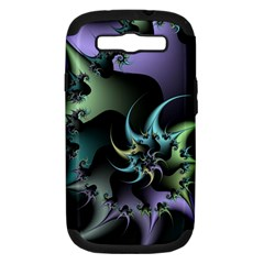 Fractal Image With Sharp Wheels Samsung Galaxy S III Hardshell Case (PC+Silicone)
