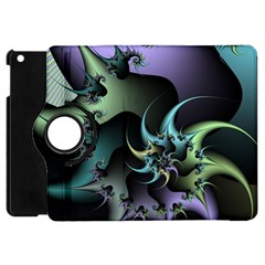 Fractal Image With Sharp Wheels Apple Ipad Mini Flip 360 Case