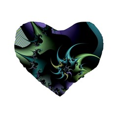 Fractal Image With Sharp Wheels Standard 16  Premium Heart Shape Cushions