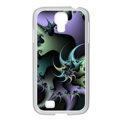 Fractal Image With Sharp Wheels Samsung GALAXY S4 I9500/ I9505 Case (White)