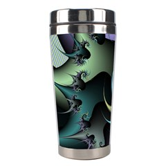 Fractal Image With Sharp Wheels Stainless Steel Travel Tumblers