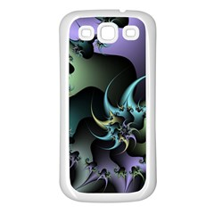 Fractal Image With Sharp Wheels Samsung Galaxy S3 Back Case (white)