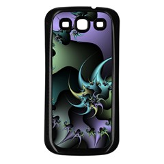 Fractal Image With Sharp Wheels Samsung Galaxy S3 Back Case (Black)