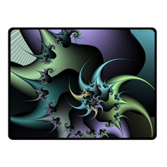 Fractal Image With Sharp Wheels Double Sided Fleece Blanket (Small)