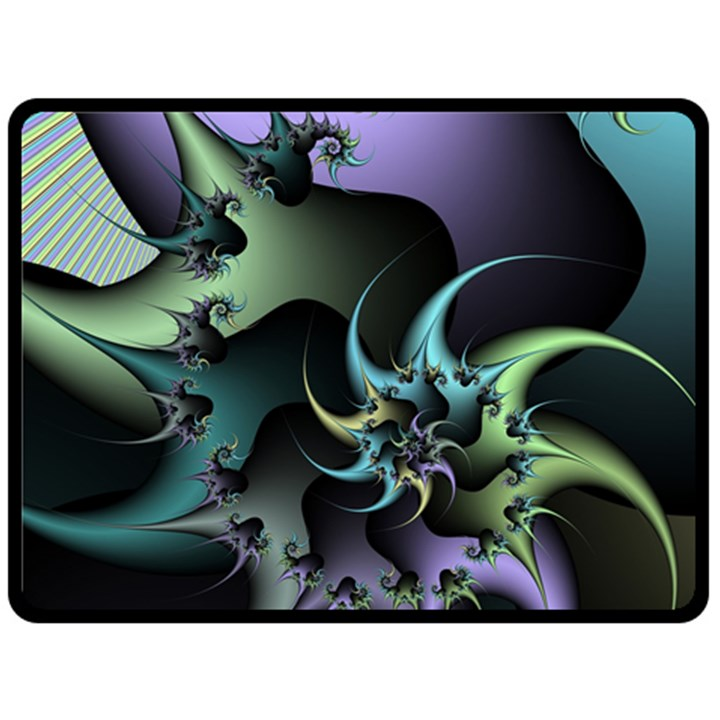Fractal Image With Sharp Wheels Double Sided Fleece Blanket (Large)