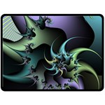 Fractal Image With Sharp Wheels Double Sided Fleece Blanket (Large)  80 x60 Blanket Back