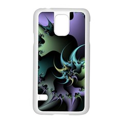 Fractal Image With Sharp Wheels Samsung Galaxy S5 Case (White)