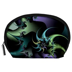 Fractal Image With Sharp Wheels Accessory Pouches (Large)