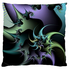 Fractal Image With Sharp Wheels Large Flano Cushion Case (Two Sides)