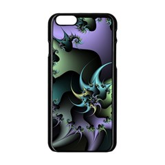 Fractal Image With Sharp Wheels Apple iPhone 6/6S Black Enamel Case