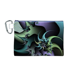 Fractal Image With Sharp Wheels Canvas Cosmetic Bag (M)