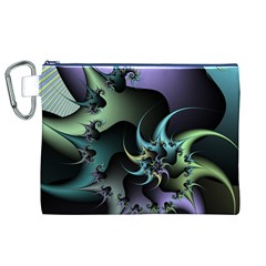 Fractal Image With Sharp Wheels Canvas Cosmetic Bag (XL)