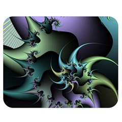 Fractal Image With Sharp Wheels Double Sided Flano Blanket (medium)