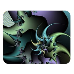 Fractal Image With Sharp Wheels Double Sided Flano Blanket (large)