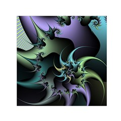 Fractal Image With Sharp Wheels Small Satin Scarf (Square)