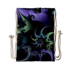 Fractal Image With Sharp Wheels Drawstring Bag (small)