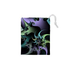 Fractal Image With Sharp Wheels Drawstring Pouches (xs)