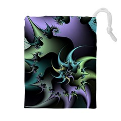 Fractal Image With Sharp Wheels Drawstring Pouches (Extra Large)