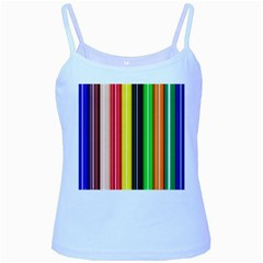 Stripes Colorful Striped Background Wallpaper Pattern Baby Blue Spaghetti Tank