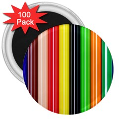 Stripes Colorful Striped Background Wallpaper Pattern 3  Magnets (100 Pack)
