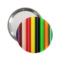 Stripes Colorful Striped Background Wallpaper Pattern 2.25  Handbag Mirrors
