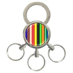 Stripes Colorful Striped Background Wallpaper Pattern 3-Ring Key Chains
