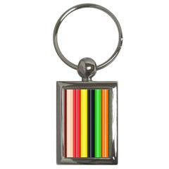 Stripes Colorful Striped Background Wallpaper Pattern Key Chains (rectangle)