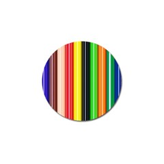 Stripes Colorful Striped Background Wallpaper Pattern Golf Ball Marker (4 Pack)