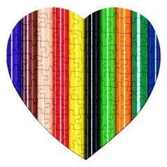 Stripes Colorful Striped Background Wallpaper Pattern Jigsaw Puzzle (Heart)