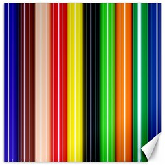 Stripes Colorful Striped Background Wallpaper Pattern Canvas 12  X 12