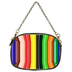Stripes Colorful Striped Background Wallpaper Pattern Chain Purses (two Sides)