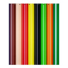 Stripes Colorful Striped Background Wallpaper Pattern Shower Curtain 60  X 72  (medium)