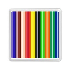 Stripes Colorful Striped Background Wallpaper Pattern Memory Card Reader (square)
