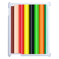 Stripes Colorful Striped Background Wallpaper Pattern Apple Ipad 2 Case (white)