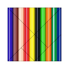 Stripes Colorful Striped Background Wallpaper Pattern Acrylic Tangram Puzzle (6  x 6 )