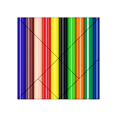 Stripes Colorful Striped Background Wallpaper Pattern Acrylic Tangram Puzzle (4  X 4 )