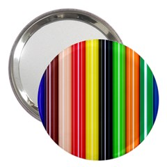 Stripes Colorful Striped Background Wallpaper Pattern 3  Handbag Mirrors