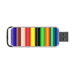 Stripes Colorful Striped Background Wallpaper Pattern Portable USB Flash (Two Sides)